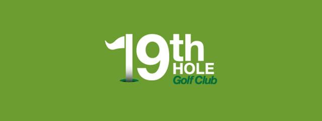 19th Hole Golf Club Logo sport brand