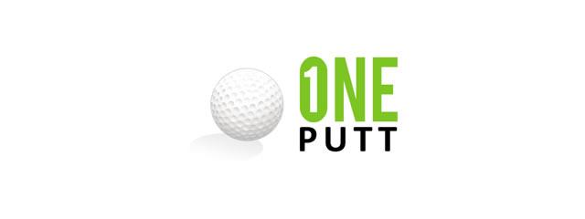 One Putt Logo sport brand