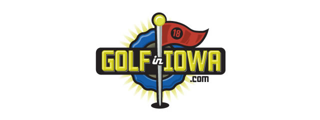 Golf in Iowa Logo sport brand
