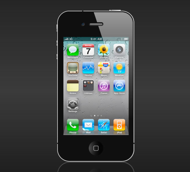 iPhone 4 Vector Template .ai & .eps