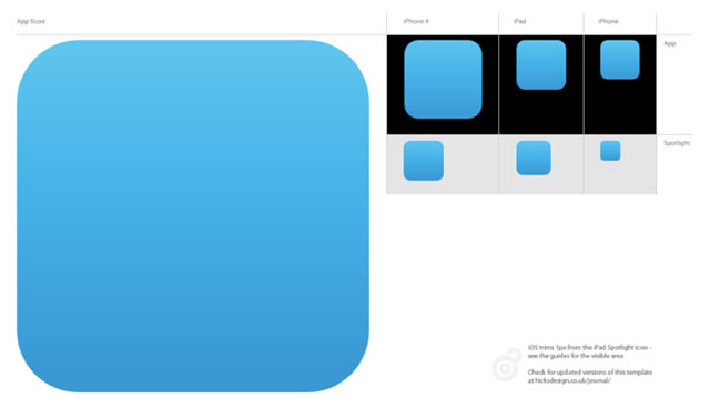 iOS Icon Template for Illustrator CS5 .ai