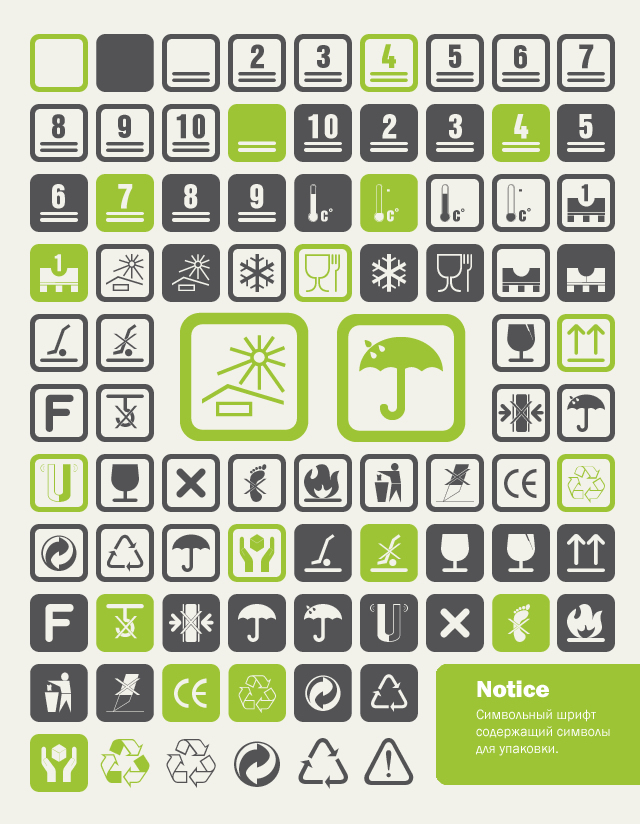 10 Free Pictogram & Glyph Dingbat Typefaces
