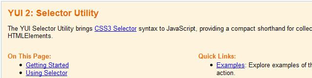 YUI 2: Selector Utility - Javascript CSS3 Selector