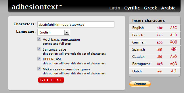 adhesiontext A Dynamic Dummy Text Generator