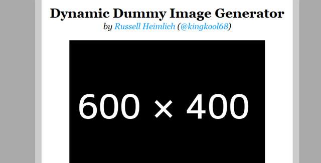 Dynamic Dummy Image Generator - DummyImage.com