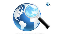 Global Search Icon and Magnifier