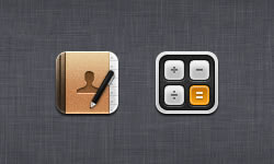 Calculator & Address Book Icons