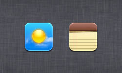 Notes & Weather Icons