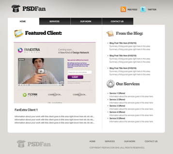 Professional Portfolio Web Layout