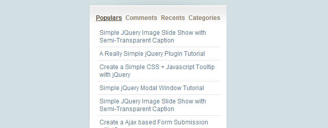 Sliding Tab Menu for Sidebar jQuery Plugin