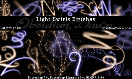 Light Swirls Brushes 22 Brushes