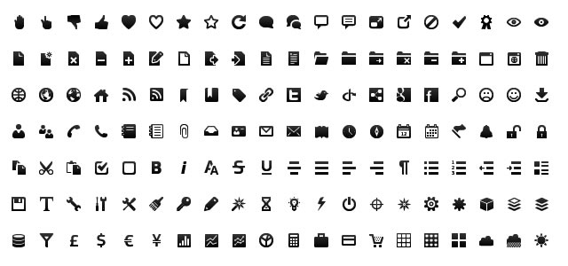 Gentleface Wireframe Icons