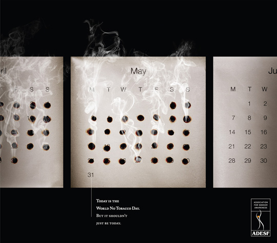 Print Ad - Burnt Calendar Dates