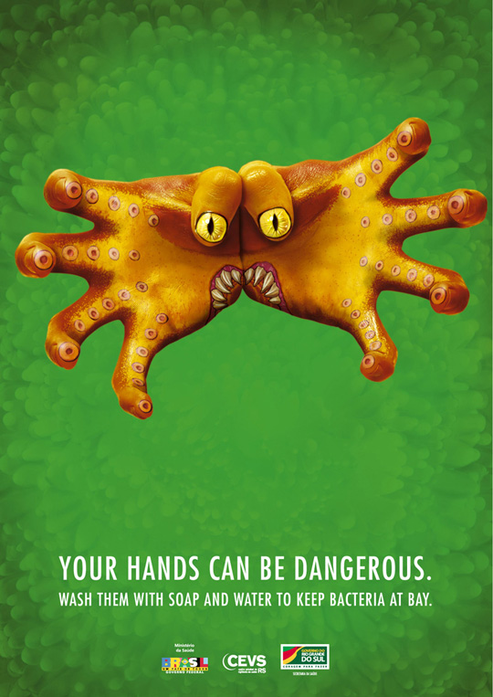 Print Ad - Monster Hands