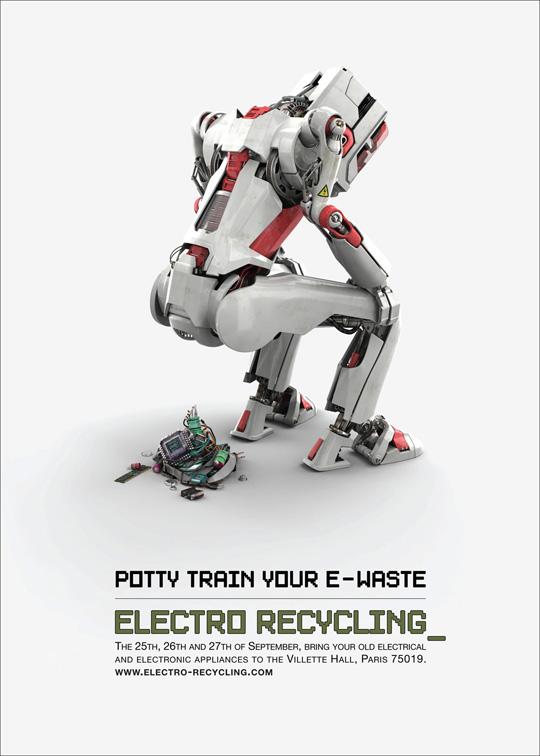 Print Ad - Robot Potty