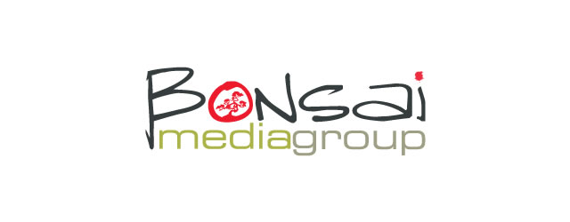 Bonsai Media Group asian themed logo design branding oriental far-east