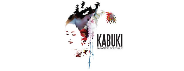 Kabuki asian themed logo design branding oriental far-east