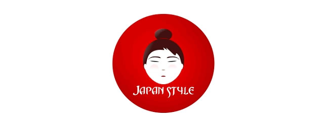 Japan Style asian themed logo design branding oriental far-east