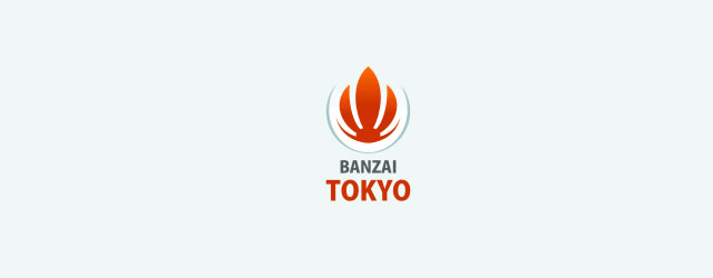 Banzai asian themed logo design branding oriental far-east