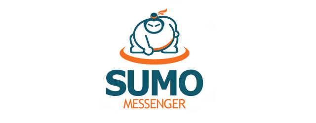 Sumo Messenger asian themed logo design branding oriental far-east
