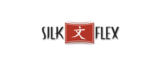 Silk Flex asian themed logo design branding oriental far-east