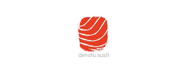 Denshu Sushi asian themed logo design branding oriental far-east