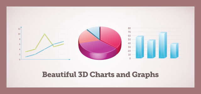 Beautiful 3D Graphs and Charts (.ai)
