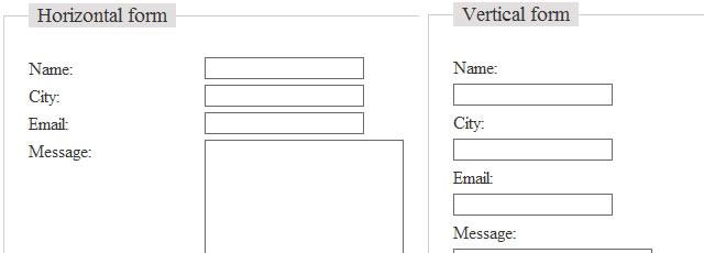 Formy CSS Framework - 4 Demo Forms