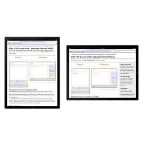 iPad CSS Layout with Landscape/Portrait Orientation Modes