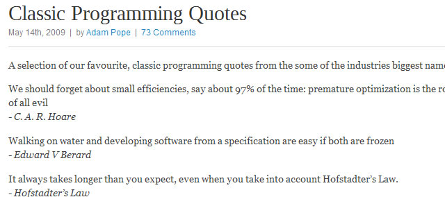 Classic Programming Quotes from the Storm Development Blog