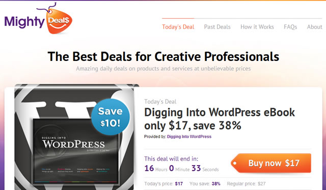 MightyDeals - Daily Deals for Creative Professionals