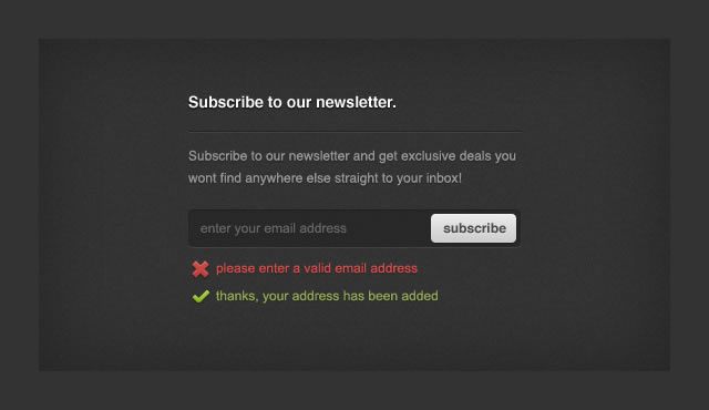 Freebie: Newsletter Sign-Up Form PSD