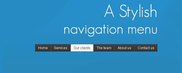 Stylish Navigation Menu With jQuery