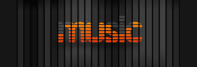 Music Equalizer Text Effect