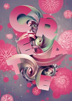 3D Type Art