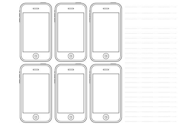 Plantillas de iPhone Sketch