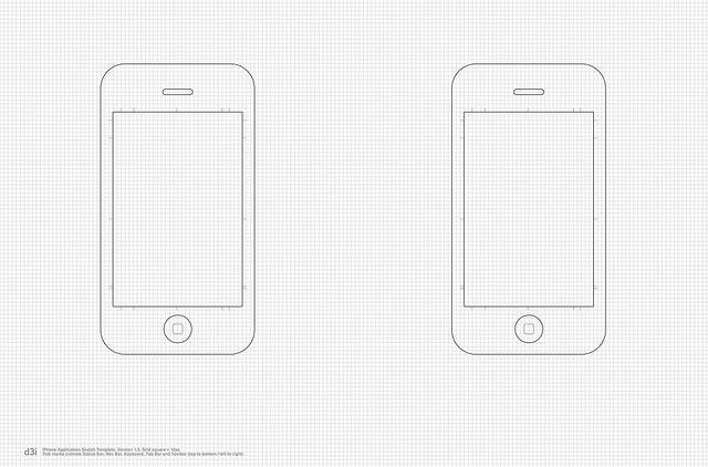 Aplicación iPhone plantilla Sketch