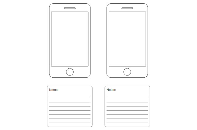IPhone Wireframe Template For Sketching