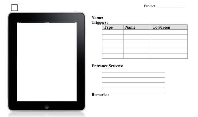 De Alto Nivel de la aplicación iPad wireframing