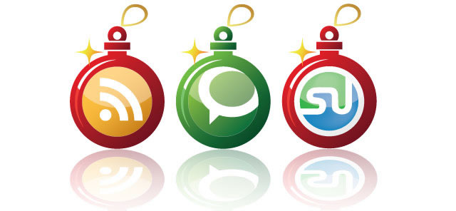 Early Christmas Social Networking Icons