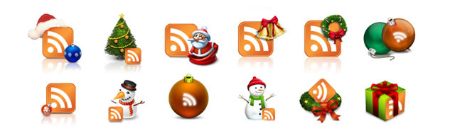 Christmas RSS Icons for Blogs