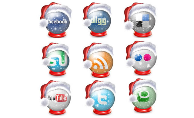 Free Holiday Social Icon Set