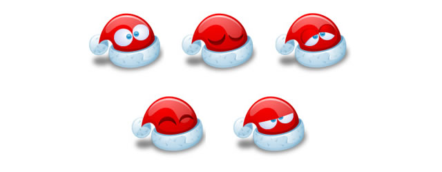 Santa Claus Hat Emoticons