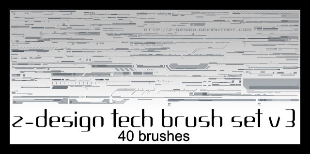 Z-Design Tech Brush Set 40 Brushes