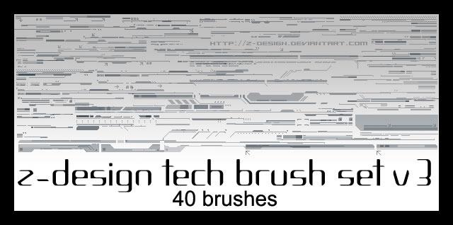 Z-Design Tech Brush Set 40 Brushes