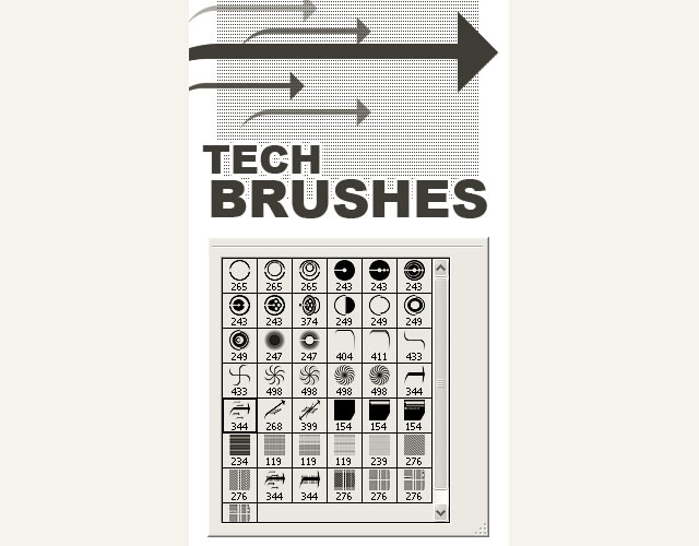 20 free technology photoshop brush sets