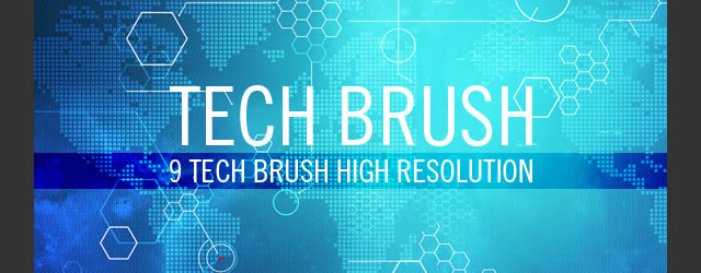Tech Brushes 9 Brushes