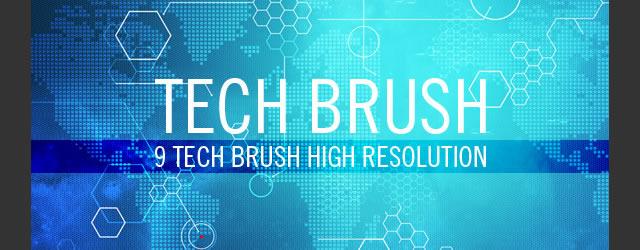 20 free technology photoshop brush sets tech brushes 9 brushes malvernweather Choice Image