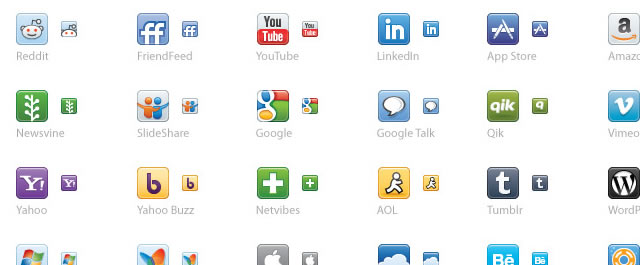 Vector Social Media Icons - Update