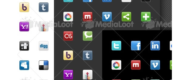 MediaLoot Social Media And Blogging Icon Set